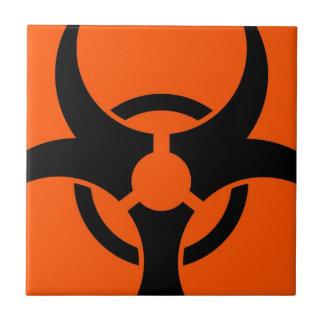 Biohazard Symbol Ceramic Tile