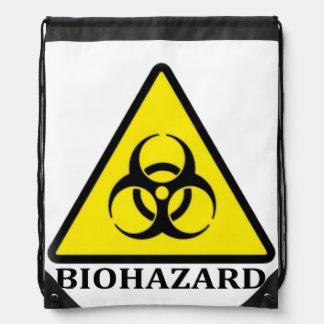 BioHazard Symbol Cinch Bags