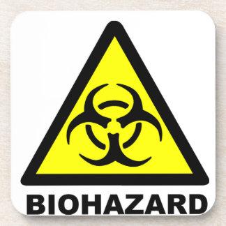 Biohazard Symbol Drink Coaster