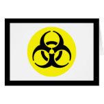 BioHazard Symbol Greeting Cards
