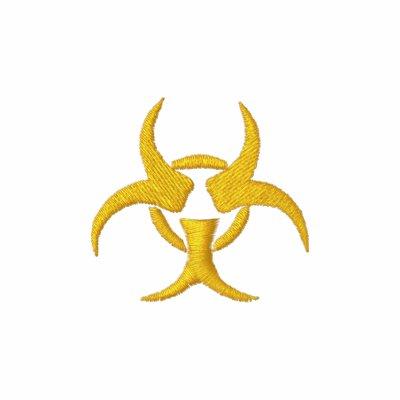 Biohazard Symbol Hooded Embroidered Hoody