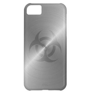 Biohazard Symbol In Steel iPhone 5C Cases