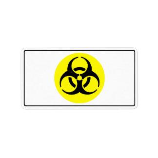 BioHazard Symbol Address Label