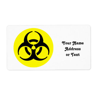 BioHazard Symbol Personalized Shipping Label