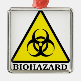 BioHazard Symbol Metal Ornament