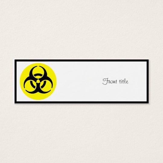BioHazard Symbol Mini Business Card