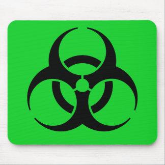 Biohazard Symbol Mouse Pads