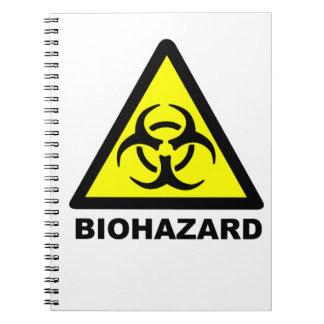 Biohazard Symbol Spiral Note Book