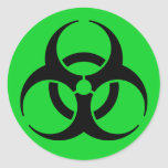 Biohazard Symbol Round Stickers