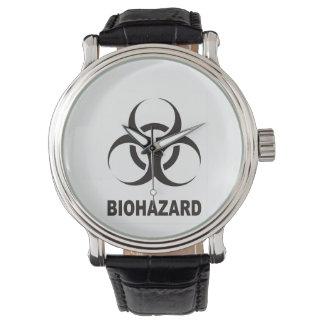 biohazard symbol sign black wristwatches