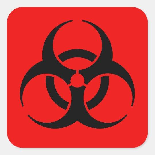 Biohazard Symbol Square Sticker Zazzle
