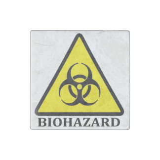 BioHazard Symbol Stone Magnet