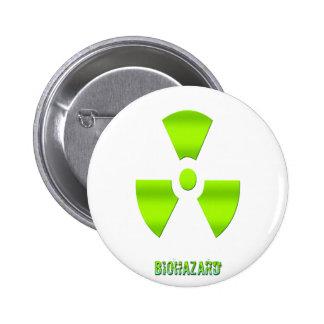 Biohazard Symbol With Word Button