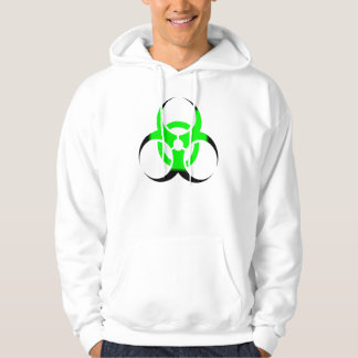 Biohazard Symbol Zombie Green and Black Hoodie
