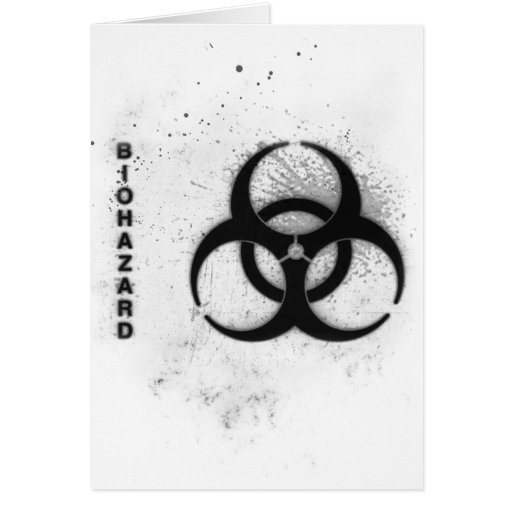 biohazard tarjeta de felicitación