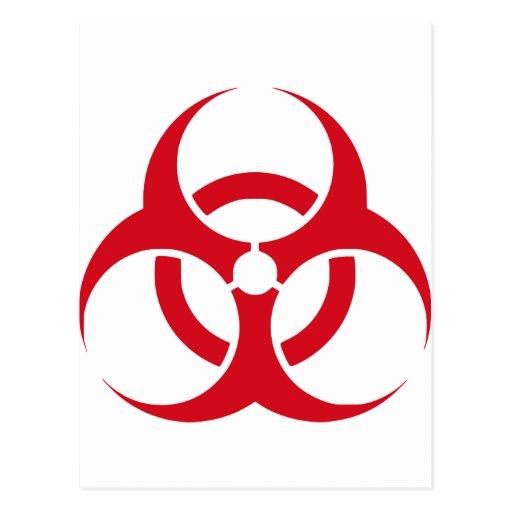 Biohazard Tarjeta Postal