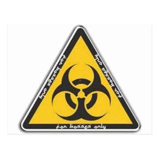 biohazard tarjetas postales