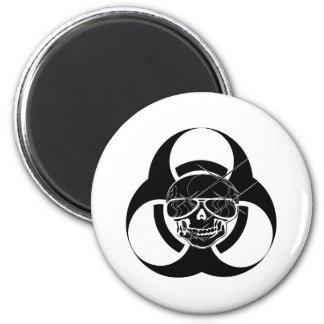 Biohazard Tattoo Skull 2 Inch Round Magnet