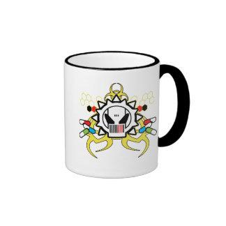Biohazard Tech Skull Coffee Mugs
