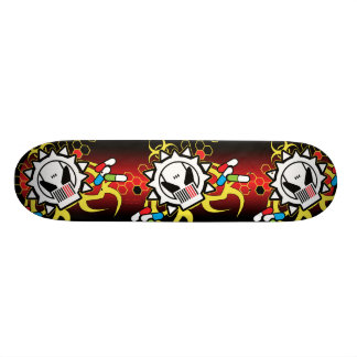 Biohazard Tech Skull Skateboard