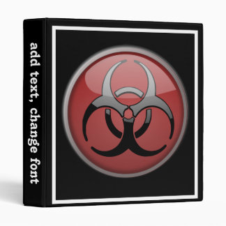 BioHazard Toxic 3 Ring Binder