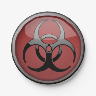 BioHazard Toxic 7 Inch Paper Plate