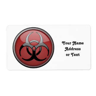 BioHazard Toxic Custom Shipping Labels