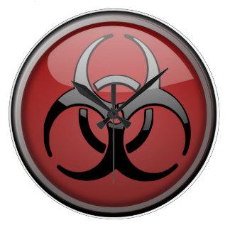BioHazard Toxic Large Clock
