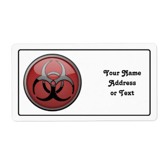BioHazard Toxic Personalized Shipping Labels