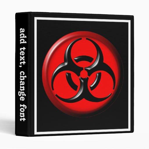 BioHazard Toxic - Red 3 Ring Binders