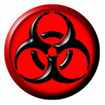 BioHazard Toxic - Red Acrylic Cut Out