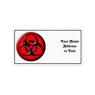 BioHazard Toxic - Red Address Label