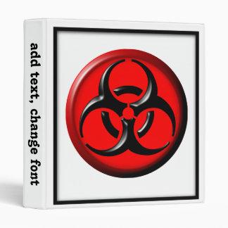 BioHazard Toxic - Red Binder