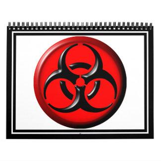 BioHazard Toxic - Red Calendars