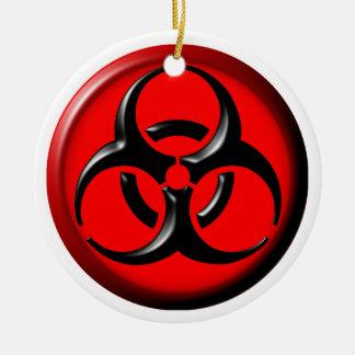 BioHazard Toxic - Red Ceramic Ornament