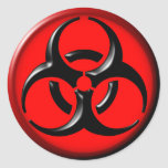 BioHazard Toxic - Red Classic Round Sticker