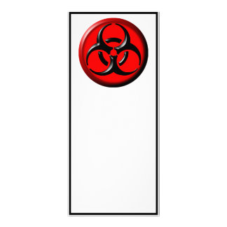 BioHazard Toxic - Red Custom Rack Card
