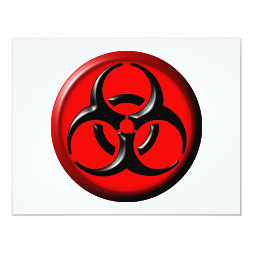 BioHazard Toxic - Red 4.25x5.5 Paper Invitation Card