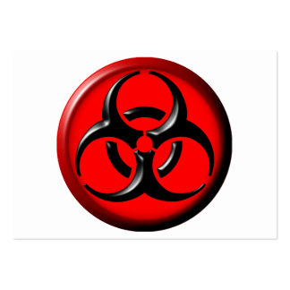 BioHazard Toxic - Red Large Business Card