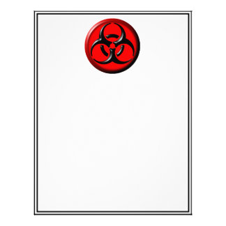 BioHazard Toxic - Red Letterhead Template