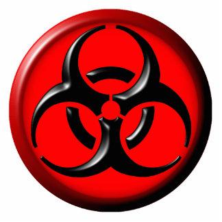 BioHazard Toxic - Red Standing Photo Sculpture