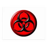 BioHazard Toxic - Red Postcard