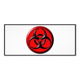 BioHazard Toxic - Red Rack Card Design