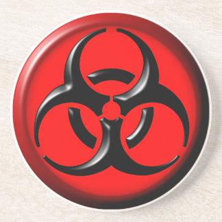 BioHazard Toxic - Red Sandstone Coaster