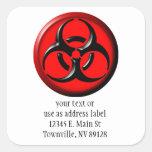 BioHazard Toxic - Red Square Sticker