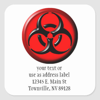 BioHazard Toxic - Red Square Sticker