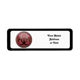 BioHazard Toxic Return Address Label
