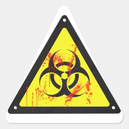 Biohazard Triangle Sticker