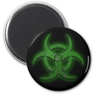 Biohazard verde imán redondo 5 cm