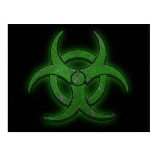 Biohazard verde tarjetas postales